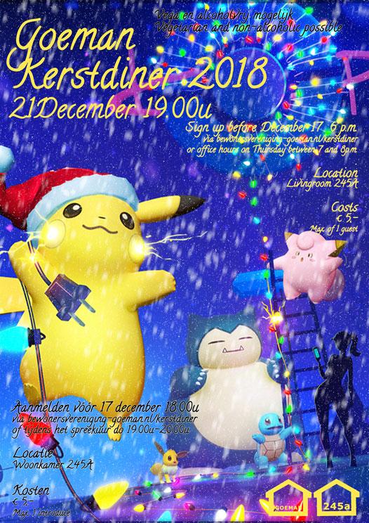Kerstdiner poster 2018
